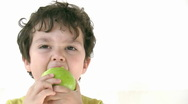Stock Video Footage of Child eating apple