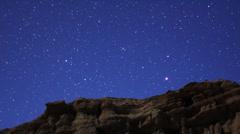 Geminids Meteor Shower 07 Timelapse  Milky Way Hi ISO HD720 24 Stock Footage
