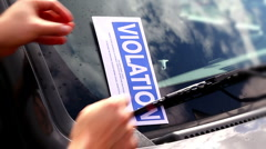 Parking Ticket 2088 Stock Footage