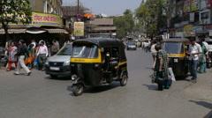 Mumbai rickshaw 1 Stock Footage