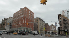 Meatpacking District Corner in NYC Stock Footage