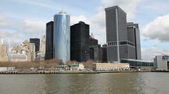 Sailing to Manhattan South Port Stock Footage