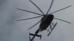 Black helicopter Stock Footage