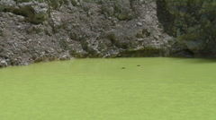 Zoom out on Green Lake Stock Footage