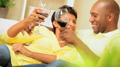 Young Ethnic Couple With a Glass of Wine Stock Footage