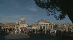 Long glidecam to Ancient City, Rome Stock Footage