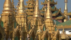 Shwedagon pagoda - stock footage