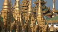 Shwedagon pagoda Stock Footage