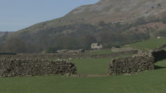 Gateway in a dry stone wall near Reeth, Swaledale. Stock Footage