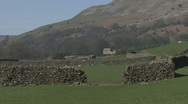 Stock Video Footage of Gateway in a dry stone wall near Reeth, Swaledale.