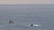 Stock Video Footage of Fishingboat in sea