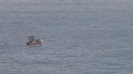 Fishingboat in the sea Stock Footage
