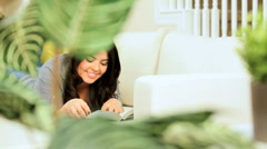 Girl Relaxing with a Book & Juice Stock Footage