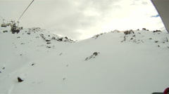 View from a skilift Stock Footage