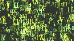 Abstract computer business number and alphabet matrix,finance market display. Stock Footage
