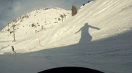 Stock Video Footage of Snowboarding downhill