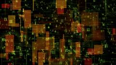 Square number,alphabet matrix,information data,digital science space info. Stock Footage