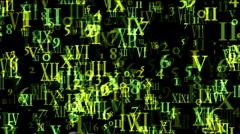 Alphabet matrix computer number background,finance password information data. Stock Footage