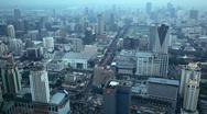 Aerial view of Bangkok ,Thailand Stock Footage