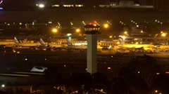 Airport Terminal at Night - stock footage