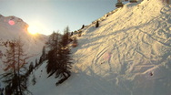 Stock Video Footage of View from a skilift