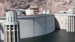 Hoover Dam road traffic P HD 9317 Stock Footage