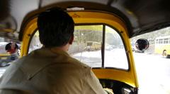 Mumbai rickshaw P1 Stock Footage