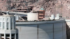 Hoover Dam tourists traffic HD 9315 Stock Footage