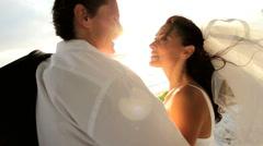 Island Wedding Couple Stock Footage