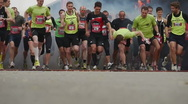 Stock Video Footage of HD720p50 Start of Fisherman's Friend StrongmanRun 2011 in Germany