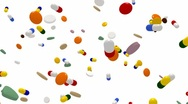 Falling medications Stock Footage