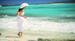 Beautiful Female Loving her Island Lifestyle Stock Footage