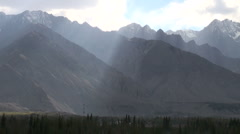 Sunlight, mountains, Northern Pakistan, remote, beautiful, timelapse Stock Footage