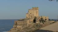 Bascilicata A dramatic castle in southern Italy Stock Footage