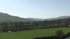 Swaledale from a hillside near Reeth. Stock Footage