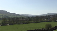 Stock Video Footage of Swaledale from a hillside near Reeth.