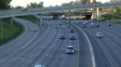 Freeway underpass tilt2 Stock Footage