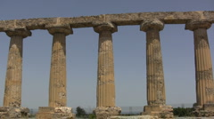 Doric columns at Metapontum  Stock Footage