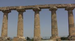Stock Video Footage of Doric columns at Metapontum