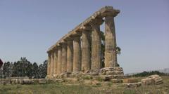 Metapontum columns of Temple of Hera  Stock Footage