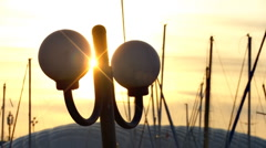 Street lamp and poles. Stock Footage