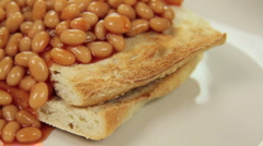 Cascading Baked Beans Stock Footage