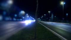Timelapse night traffic on boulevard. Stock Footage