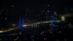 Timelapse bridge at night. - stock footage