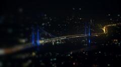 Timelapse bridge at night. Stock Footage
