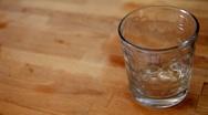 Glass of milk Stock Footage