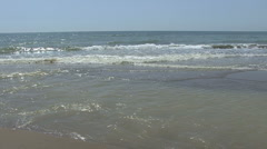 Italy beach scene on Ionian Sea Stock Footage