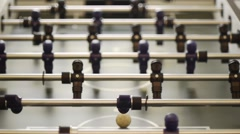 Table Soccer - Goal from Behind Stock Footage