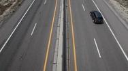 Traffic desert highway HD 9202 Stock Footage