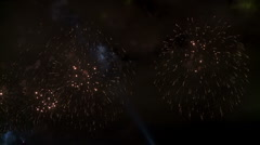 Spectacular and colorful fireworks show. Stock Footage